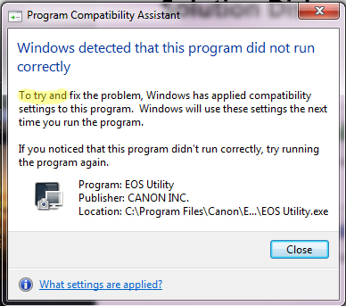 Grammar Error - Windows 7