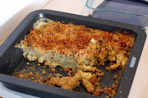 Casarecce and Bechamel with Walnut Crumble